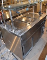 Vannbad / varmebad i rustfritt stål, 130cm bredde, varmeskap under, pent brukt 2015-modell