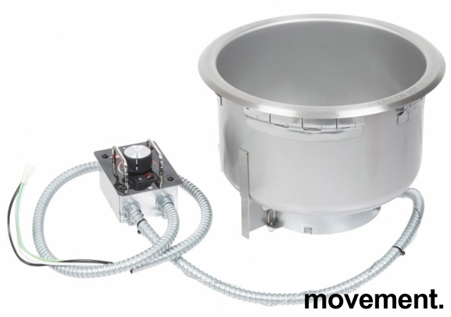 Hatco integrert suppekjele, modell Heated Well, Ø=30cm hullmål, for nedfelling i benk, pent brukt bilde 8