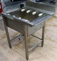 Rullebane / benk i rustfritt stål for oppvask, 80cm bredde, pent brukt 2015-modell