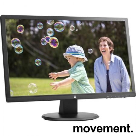 Flatskjerm til PC: Hewlett-Packard 24uh, LED, 24toms, 1920x1080 Full HD, VGA/DVI/HDMI, pent brukt