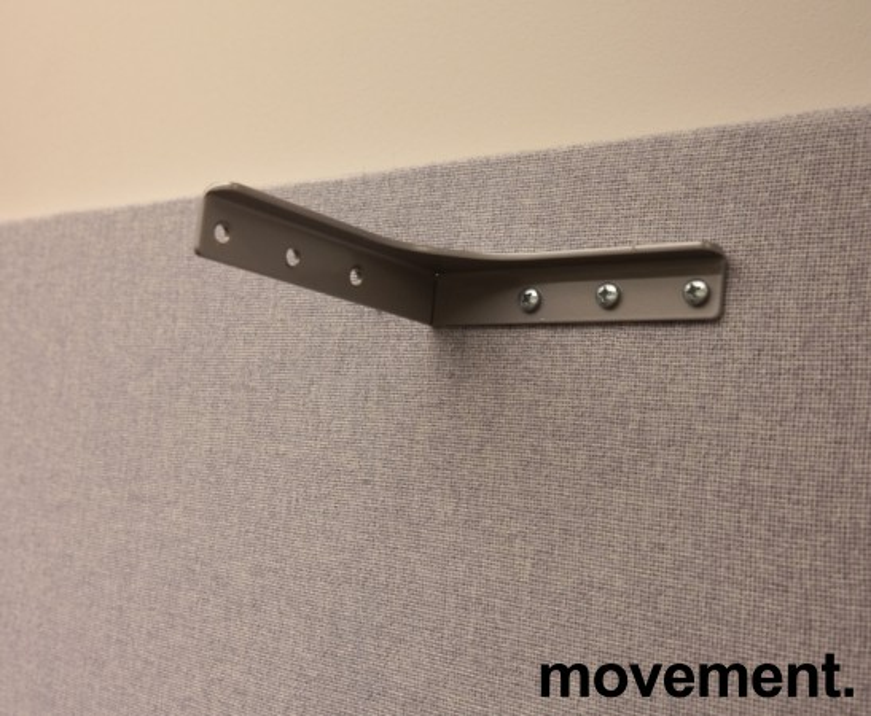 Bordskillevegg i lyst grått stoff fra Edsbyn, 180x65cm, pent brukt bilde 3