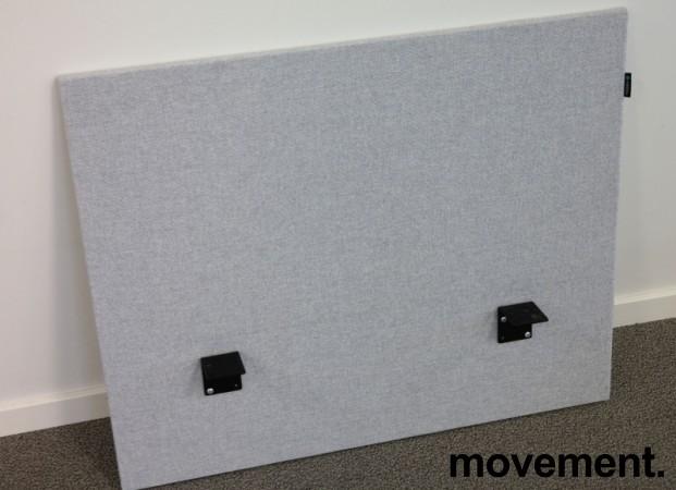 Bordskillevegg i lyst grått stoff fra Edsbyn, 80x65cm, pent brukt bilde 2