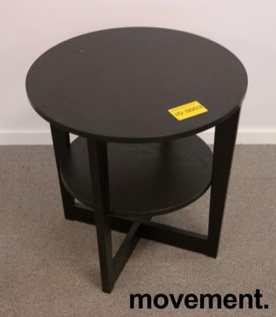 Loungebord / sofabord i brunsort fra IKEA, Vejmon Ø=60cm, pent brukt bilde 1