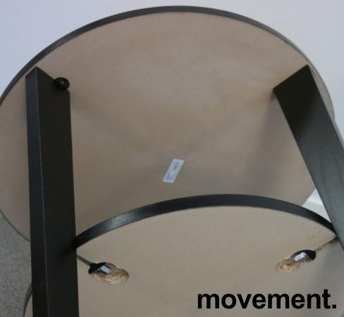 Loungebord / sofabord i brunsort fra IKEA, Vejmon Ø=60cm, pent brukt bilde 3