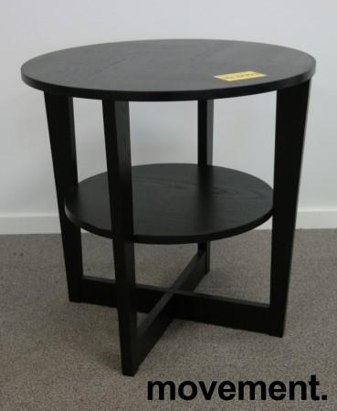 Loungebord / sofabord i brunsort fra IKEA, Vejmon Ø=60cm, pent brukt bilde 2