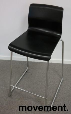 IKEA Glenn barkrakk i sort/ krom, høyde 66cm, pent brukt bilde 1