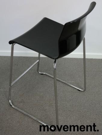 IKEA Glenn barkrakk i sort/ krom, høyde 66cm, pent brukt bilde 2