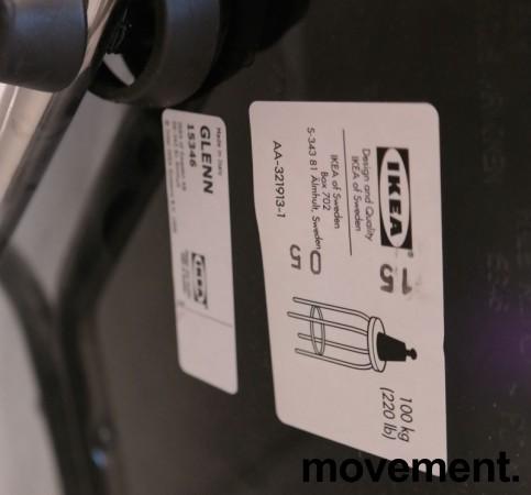 IKEA Glenn barkrakk i sort/ krom, høyde 66cm, pent brukt bilde 3