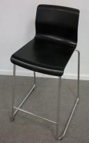 IKEA Glenn barkrakk i sort/ krom, høyde 66cm, pent brukt
