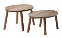 Loungebord fra Ikea Stockholm serie, Valnøtt finer, 2 stk selges samlet, pent brukt