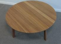 Loungebord fra Ikea Stockholm serie, Valnøtt finer, Ø=93cm, høyde 35cm, pent brukt