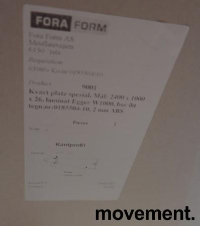 Møtebord i hvitt fra Foraform, modell Kvart, 240x100cm, pent brukt bilde 4