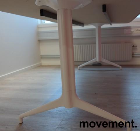 Møtebord i hvitt fra Foraform, modell Kvart, 240x100cm, pent brukt bilde 3