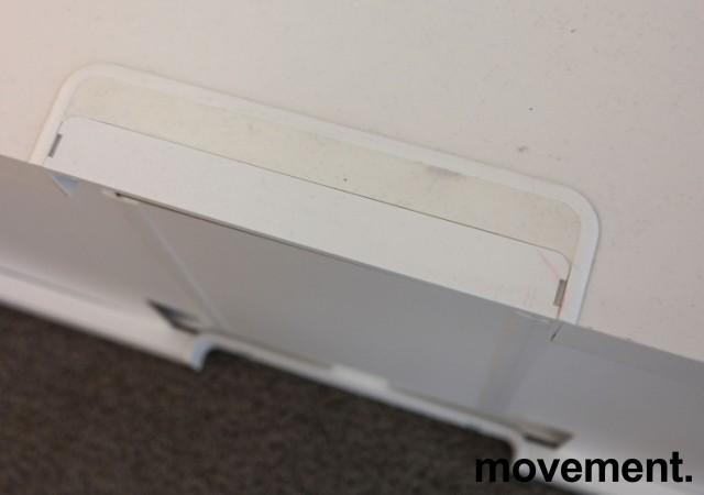 IKEA skjenk / TV-benk i hvitt, 120cm bredde, 40cm høyde, 2 skuffer, pent brukt bilde 4