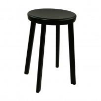 Magis Deja Vu krakk / stol i sortlakkert metall, sittehøyde 51cm, pent brukt