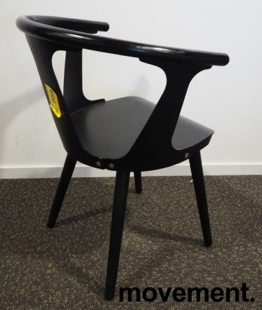 &Tradition In between stol i sort eik, design: Sami Kallio, pent brukt bilde 3