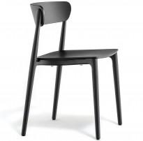 Konferansestol i sort eik fra Pedrali, modell Nemea, pent brukt