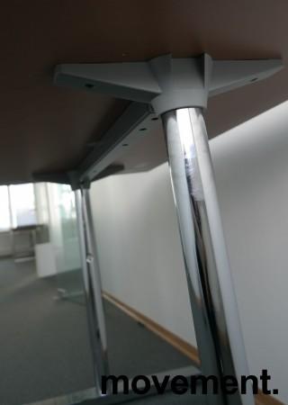 Martela kompakt skrivebord / sidebord i hvitt / krom,120x60cm, pent brukt bilde 4
