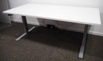 Skrivebord med elektrisk hevsenk fra Holmris, 160x80cm, NY PLATE / pent brukt