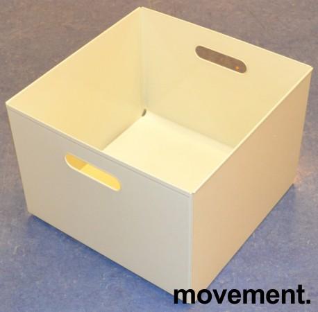 Kinnarps kasser i hvitlakkert metall for hengemapper, ypperlig til LP-plater (LP-kasse), pent brukt bilde 1