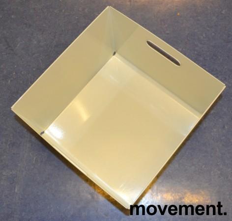 Kinnarps kasser i hvitlakkert metall for hengemapper, ypperlig til LP-plater (LP-kasse), pent brukt bilde 3