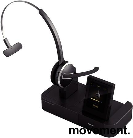 Jabra Pro 9470 Trådløst Headset med base, for fasttelefon, mobiltelefon og PC, pent brukt bilde 1