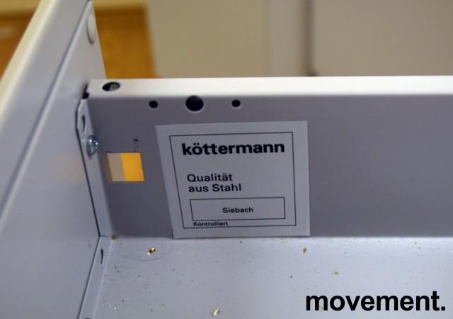 Köttermann skuffseksjon i stål, verktøyskuff / labinnredning, 4 skuffer, 90cm bredde, 88cm høyde, pent brukt bilde 2