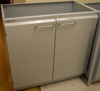 Köttermann skapseksjon i stål, verktøyhylle / labinnredning, 2 dører, 1 hylle, 90cm bredde, 88cm høyde, pent brukt