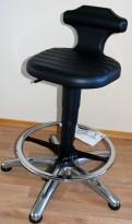 Arbeidsstol/labstol fra VWR, modell 132-0749, Sittehøyde: 51-78cm, pent brukt