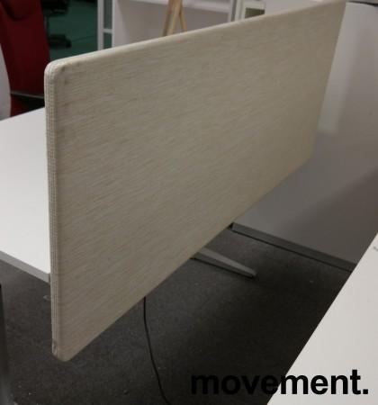 Bordskillevegg i lyst beige stoff fra Götessons, 160x65cm, pent brukt bilde 2
