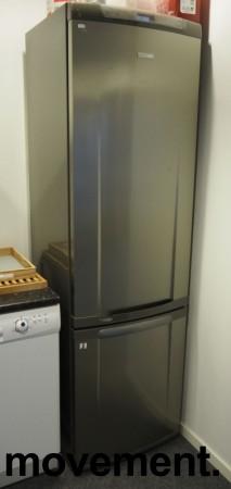 Electrolux ENB39400X8 kjøleskap/kombiskap med fryser nede  i rustfritt stål, 201cmhøyde, brukt med noe slitasje bilde 1