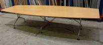 Møtebord / konferansebord i bjerk / grått fra Skandiform, 330x120cm, passer 10-12 personer, brukt