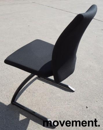 Konferansestol/besøksstol: Håg H04 Comm 4470 i sort stoff, sortlakkerte ben, pent brukt bilde 2