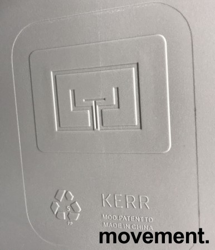 Lekker, grå stablestol i kunststoff, UV-behandlet for utendørs bruk, modell MS03, NY/UBRUKT bilde 6
