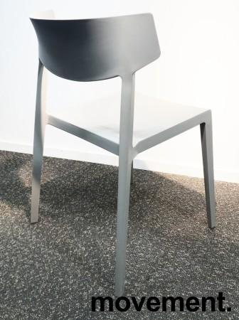 Lekker, grå stablestol i kunststoff, UV-behandlet for utendørs bruk, modell MS03, NY/UBRUKT bilde 3