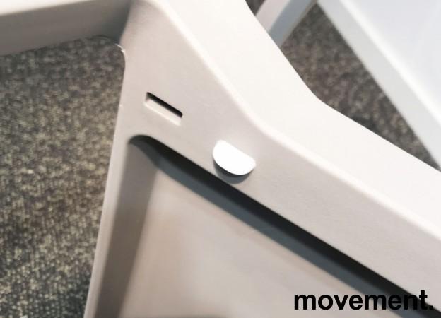 Lekker, grå stablestol i kunststoff, UV-behandlet for utendørs bruk, modell MS03, NY/UBRUKT bilde 4