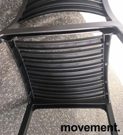 Lekker kafestol / stablestol i sort støpeplast, UV-behandlet, modell MS40, NY/UBRUKT bilde 5