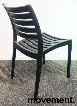 Lekker kafestol / stablestol i sort støpeplast, UV-behandlet, modell MS40, NY/UBRUKT bilde 3