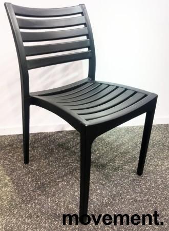 Lekker kafestol / stablestol i sort støpeplast, UV-behandlet, modell MS40, NY/UBRUKT bilde 2
