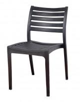 Lekker kafestol / stablestol i sort støpeplast, UV-behandlet, modell MS40, NY/UBRUKT