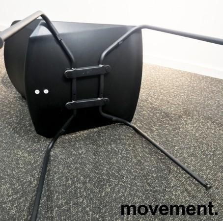 Stablebar konferansestol i sort, sortlakkerte ben i metall, modell Lycra MS02-A, NY/UBRUKT bilde 4