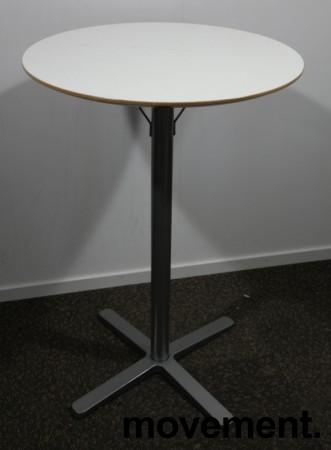 Ståbord / barbord fra Ikea, modell Billsta, Hvit, rund plate, Ø=70cm, H=105,5cm, pent brukt bilde 1
