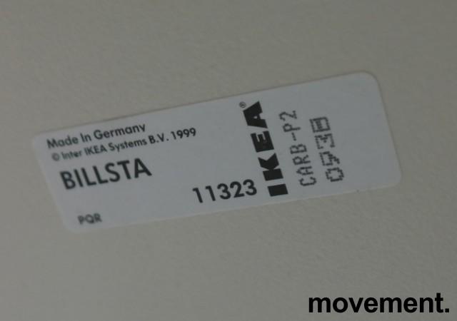 Ståbord / barbord fra Ikea, modell Billsta, Hvit, rund plate, Ø=70cm, H=105,5cm, pent brukt bilde 2