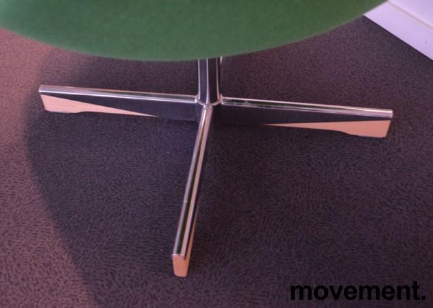 ForaForm Planet Loungestol i grønt stoff/krom, design: Svein Ivar Dysthe, Norsk klassiker, pent brukt bilde 4