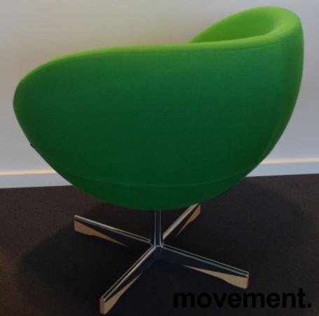 ForaForm Planet Loungestol i grønt stoff/krom, design: Svein Ivar Dysthe, Norsk klassiker, pent brukt bilde 2