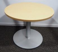 Loungebord i bjerk / grått, Ø=70cm, høyde 59cm, pent brukt