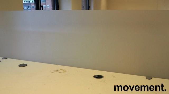 Bordskillevegg i frostet akryl fra Svenheim, 160x65cm, pent brukt bilde 1