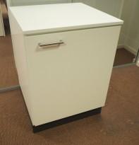 Printerskap / dypt skap i hvitt fra Trece, bredde 64cm, dybde 60cm, høyde 86cm, pent brukt