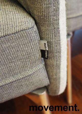 3-seter sofa / lounge i grått stoff fra ForaForm, modell Senso med høy rygg / alkovesofa, bredde 194cm, pent brukt bilde 4