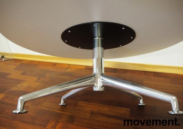 Loungebord i grått / polert aluminium fra Brunner, Ø=100cm, høyde 40cm, pent brukt bilde 2